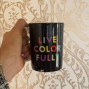 "Kate Spade ""Live Colorfully"" Mug"